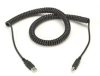 USB 2.0 Coiled Cable, Type A/B, Male/Male, 1-ft. (0.3-m) -- USB10-0001