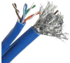 500' Cat5e & RG6 Quad Shield Combo Cable, Blue -- 202807