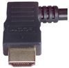 High Speed HDMI® Cable with Ethernet, Male/ Right Angle Male, Left Exit 5.0 M -- HDRA2-5 -Image
