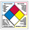 Write On Right-To-Know NFPA Classification Diamond Roll Labels -- 53071