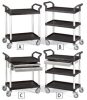 RELIUS SOLUTIONS High-Capacity Utility Carts w. Al. Uprights -- 5502000