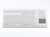 Cleanable Silicone Keyboard with Touchpad for Medical Environment -- TKG-106-TOUCH-IP68-WHITE - Image
