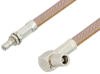 SMB Plug Right Angle to SMB Jack Bulkhead Cable 12 Inch Length Using RG400 Coax, RoHS -- PE34475LF-12 -Image