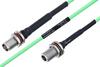 Temperature Conditioned TNC Female Bulkhead to N Female Bulkhead Low Loss Cable 30 Inch Length Using PE-P160LL Coax -- PE3M0213-30 -Image