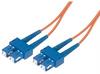 9/125, Single Mode Fiber Cable, Dual SC / Dual SC, Orange 1.0m -- SFODSC-OR-01 - Image