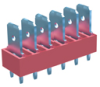 6 Tabs Low Profile Quick Fit Header -- 7821 - Image