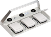 3-pedal Medical Foot Switch -- MKF 3-MED GP33 -- View Larger Image