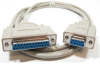 10ft DB9 Female to DB25 Female Null Modem Cable -- NU31-10 - Image