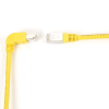 15FT YL CAT6 250MHz ANG Patch Cable S/FTP CM Down-Straight -- EVNSL214S-0015-90DS - Image