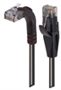 Category 5E Right Angle Patch Cable, Straight/Right Angle Up, Black, 7.0 ft -- TRD815RA2BLK-7 -Image