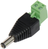 Terminal Block – 2.1 mm Male Barrel Connector to 2 Removable Screw Terminals -- TB43