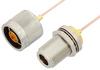 N Male to N Female Bulkhead Cable 18 Inch Length Using PE-047SR Coax, RoHS -- PE34152LF-18 -Image