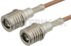 QMA Male to QMA Male Cable 36 Inch Length Using RG316-DS Coax -- PE38161-36 -Image
