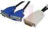 Cable Assy; DMS-59 Male; 2xVGA Female; 200 mm; EMI/RFI -- 70190571 - Image