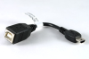 Cable, 100 mm, USB B receptacle to USB mini A male, 28 AWG, 30-00088 wire -- 10-00661 - Image