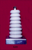Porcelain Corrugated Base Insulators -- 6-51 - Image