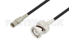 10-32 Male to BNC Male Cable 12 Inch Length Using RG174 Coax, LF Solder, RoHS -- PE3C3275LF-12 - Image