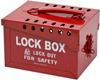Brady White on Red Steel Combined Lock Storage & Group Lock Box 51171 - 7 in Width - 6 in Height - 40 Padlock Capacity - 754476-51171 -- 754476-51171 - Image