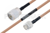 MIL-DTL-17 N Male to TNC Male Cable 18 Inch Length Using M17/128-RG400 Coax -- PE3M0072-18 -Image