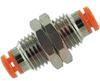 Fitting, mini bulkhead union, 3/8-24UNFthread, for 1/8 OD tube -- 70071176 - Image