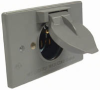 Single Gang Weatherproof Cover - Motor Plug Base -- 5153-0