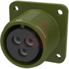 connector box receptacle,class a,size 16,3 #12 solder socket cont,olive drab -- 70009999 - Image