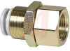 Fitting, Pneumatic; bulkhead, M14x1 thread, 1/8RcPT thread, for 6mm tubing -- 70071006