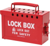 Lockout Box Red Steel -- 75447365699-1