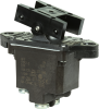 TP Series Rocker Switch, 2 pole, 2 position, Screw terminal, Above Panel Mounting -- 2TP7-2 - Image