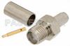 RP SMA Female Connector Crimp/Solder Attachment For RG58 -- PE4795 -Image