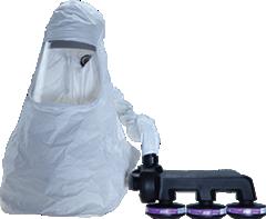 Respiratory protection hood industrial