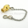 SMB Plug Open Circuit Connector Cap with 2.56 Inch Chain -- SC2101 -Image