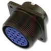connector,metal circ,box recept,size 20,8 #16 solder pin contact,black finish -- 70110049