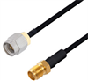 SMA Male to SMA Female Cable Assembly using LC141TBJ Coax, 10 FT -- LCCA30094-FT10 -Image