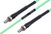 Temperature Conditioned SMA Female Bulkhead to SMA Female Bulkhead Low Loss Cable 36 Inch Length Using PE-P160LL Coax -- PE3M0189-36 -Image