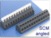 Wire-to-Board Fixed Terminal Block -- SCM Angled Series -- View Larger Image
