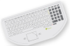 Keywi CleanBoard Medical Keyboard with Touchpad - White -- 400-100-10