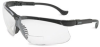 Honeywell Genesis Polycarbonate Magnifying Reader Safety Glasses Yellow Lens - Black Frame - Wrap Around Frame - 603390-124280 -- 603390-124280