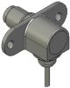 Honeywell Harsh Application Aerospace Proximity Sensor, HAPS Series, Right angle cylindrical flanged form factor, 2,50 mm/3,50 range, 3-wire current sinking output near/fault/far, 213,36 cm [84.0 in] -- 1PRFD3AHGN-000 -- View Larger Image