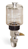 "(Formerly B1681-11), Single Feed Manual Lubricator, 9 oz Polycarbonate Reservoir, 1/2"" Male NPT -- B1681-0094B11W -- View Larger Image"
