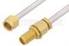 2.92mm Male to 2.92mm Female Bulkhead Cable 60 Inch Length Using PE-SR402AL Coax -- PE34743LF-60 -Image