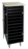 24 unit Netbook Charging Cart - Black/Gray Granite -- N-24-GG