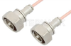 7/16 DIN Male to 7/16 DIN Male Cable 60 Inch Length Using RG402 Coax -- PE36142-60