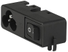 IEC Appliance Inlet C6 with Line Switch 1-pole