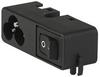 IEC Appliance Inlet C6 with Line Switch 1-pole -- CMF3, CMF6 - Image