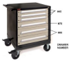 MOBILE TOOL CABINET -- H250-350G - Image