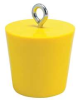 Drain Plug,For 4 In. Drains,PVC,Yellow -- 15U905