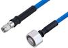 Plenum 4.1/9.5 Mini DIN Male to SMA Male Low PIM Cable 12 Inch Length Using SPP-250-LLPL Coax , LF Solder -- PE3C5885-12 -Image