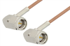 SMA Male Right Angle to SMA Male Right Angle Cable 18 Inch Length Using RG178 Coax -- PE3876-18 -Image