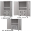 EXTRA HEAVY DUTY STORAGE CABINETS WITH SHELVES AND DRAWERS -- HHDSC-3672-24-3D